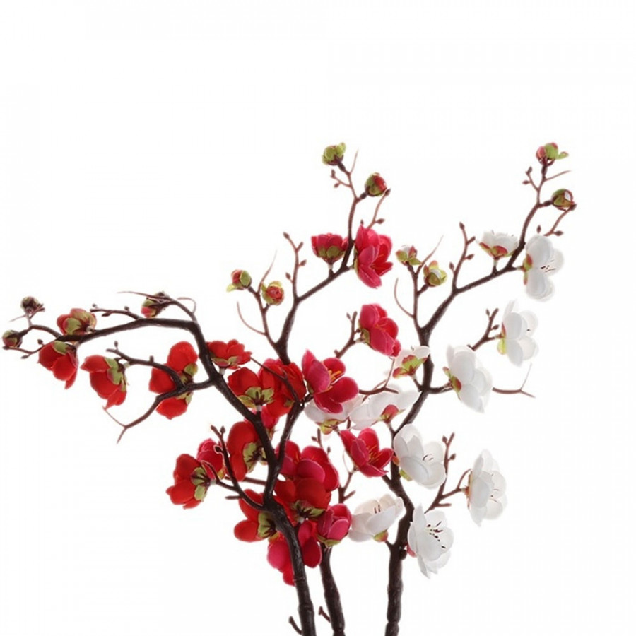 Ornamental Plum Blossom Artificial Flowers Beautiful 1 Bunch Silk Cloth Party Bedroom