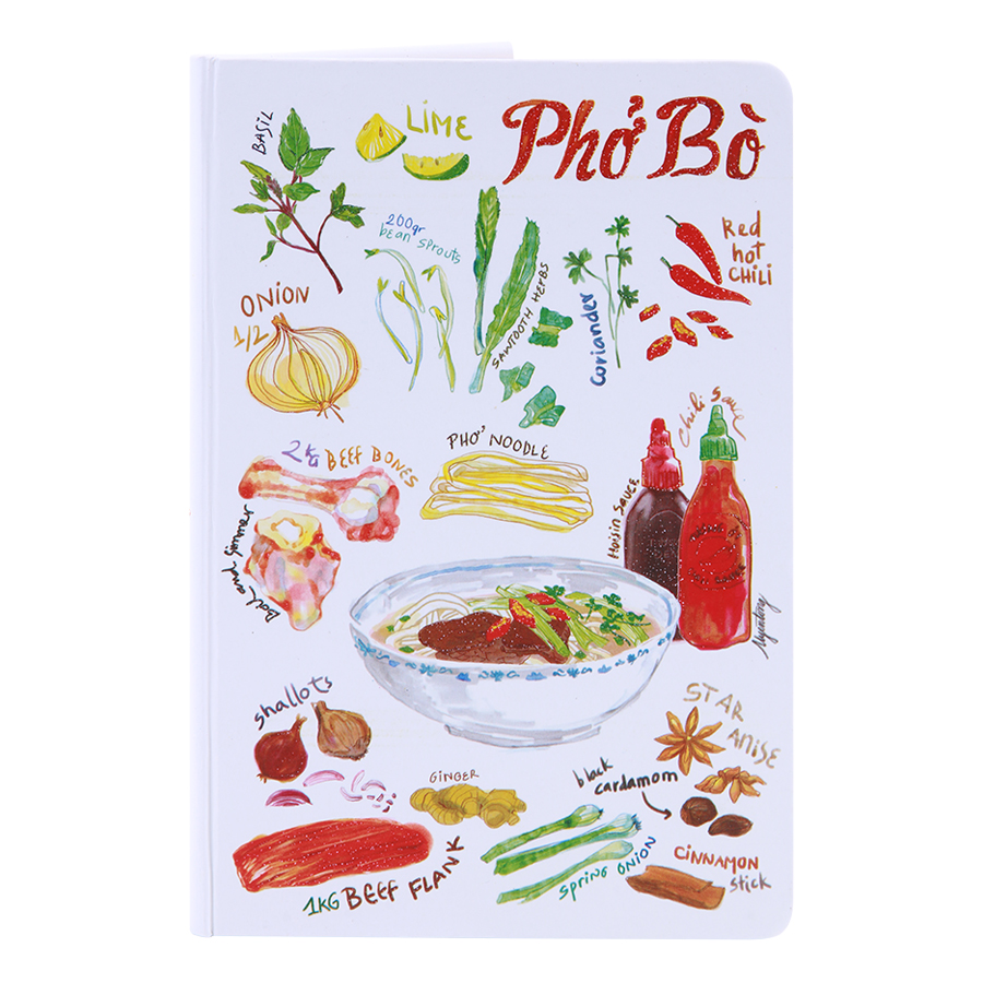 Sổ Tay Tasteful Việt Nam (S) - Phở Bò (100 Trang)