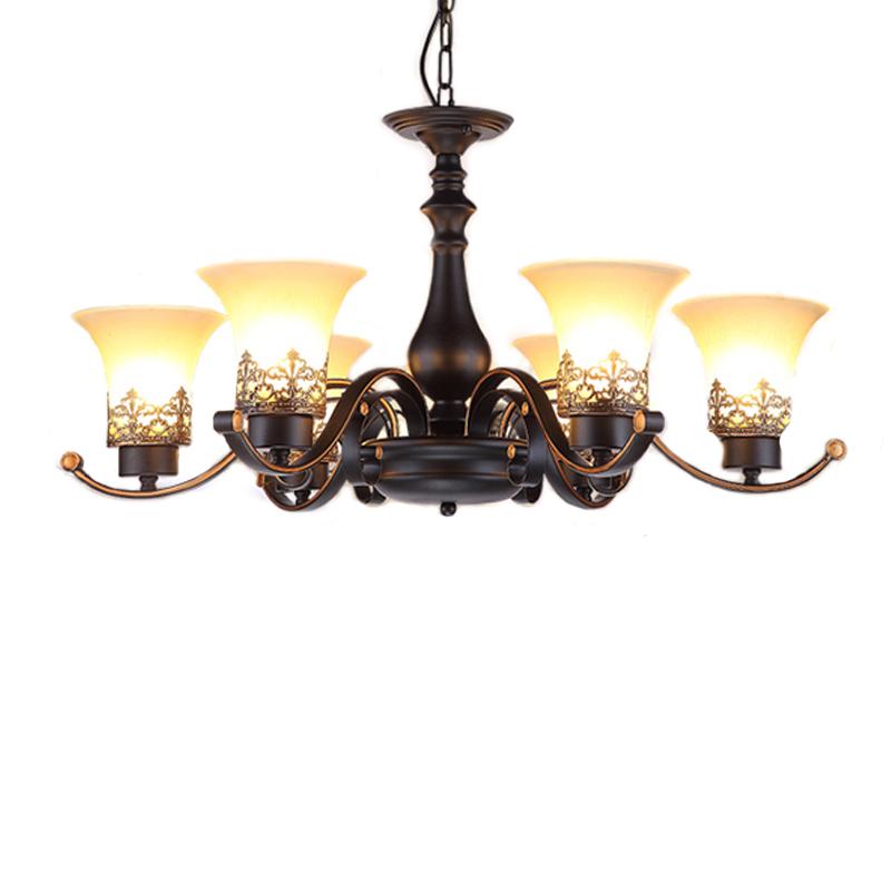 Đèn trần - Đèn chùm - Đèn trang trí độc đáo HUNTER ( loại 6 bóng)
