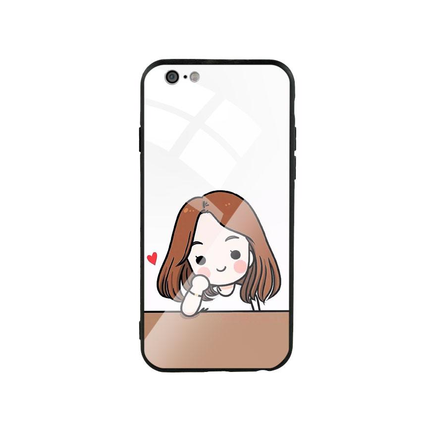 Ốp Lưng Kính Cường Lực cho điện thoại Iphone 6 / 6s - Couple Girl 03