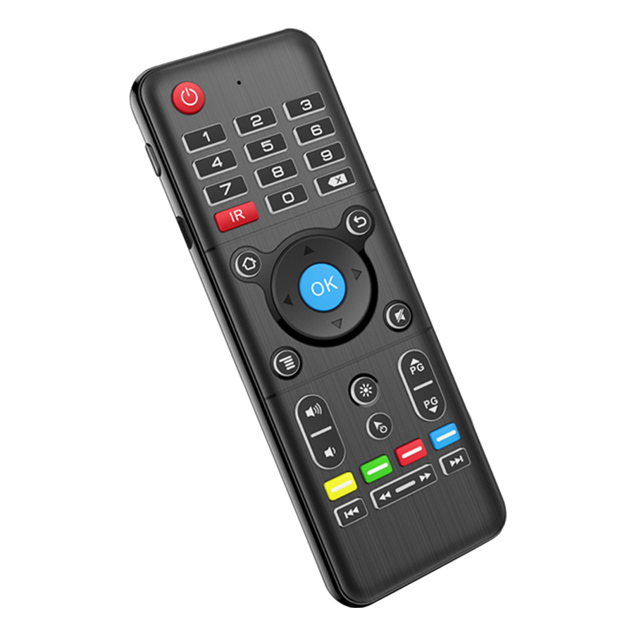 2.4GHz Air Mouse + Full-Touchpad Keyboard Double-side Handheld Remote Control with 6-Axis Sensor Gyroscope Backlight IR
