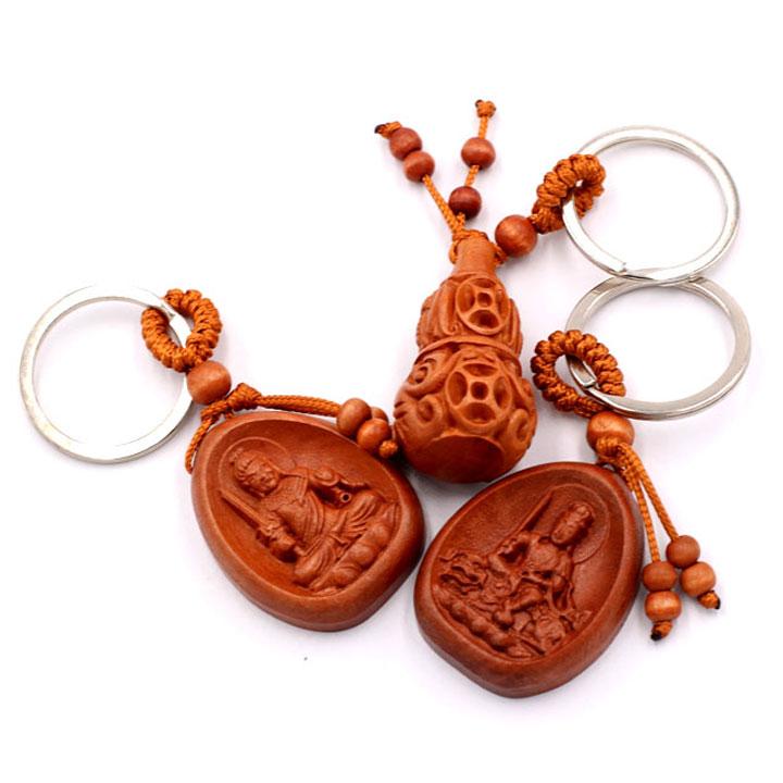 Combo 3 móc khóa Phật Bất Động Minh Vương - Văn Thù bồ tát - Hồ Lô - an khang, thịnh vượng