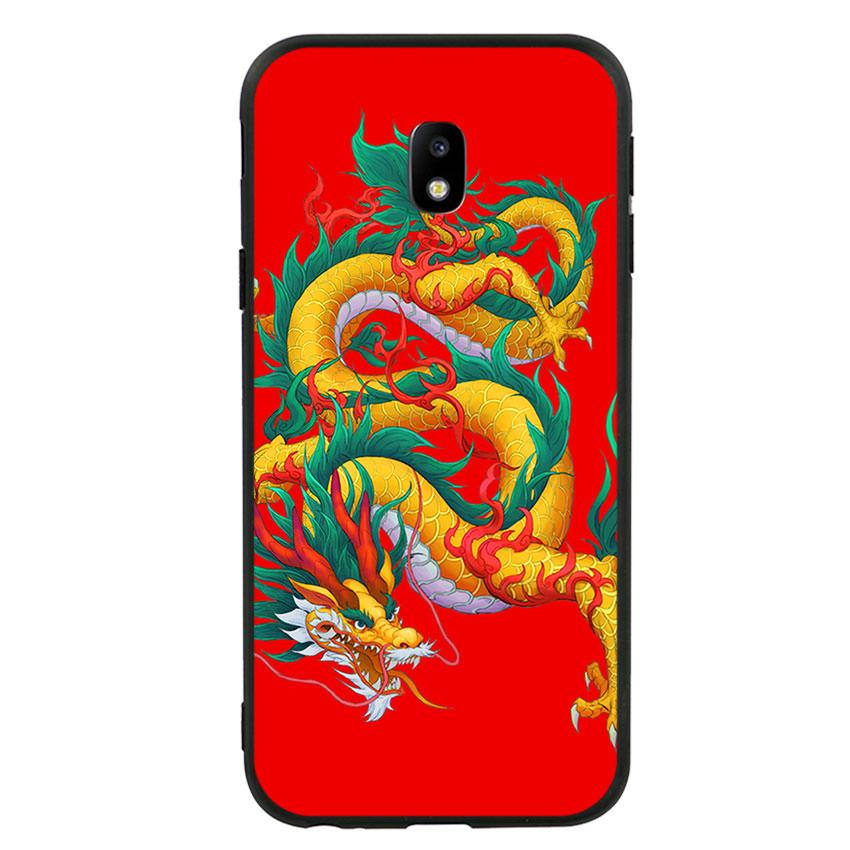 Ốp lưng viền TPU cho điện thoại Samsung Galaxy J3 Pro - Dragon 09