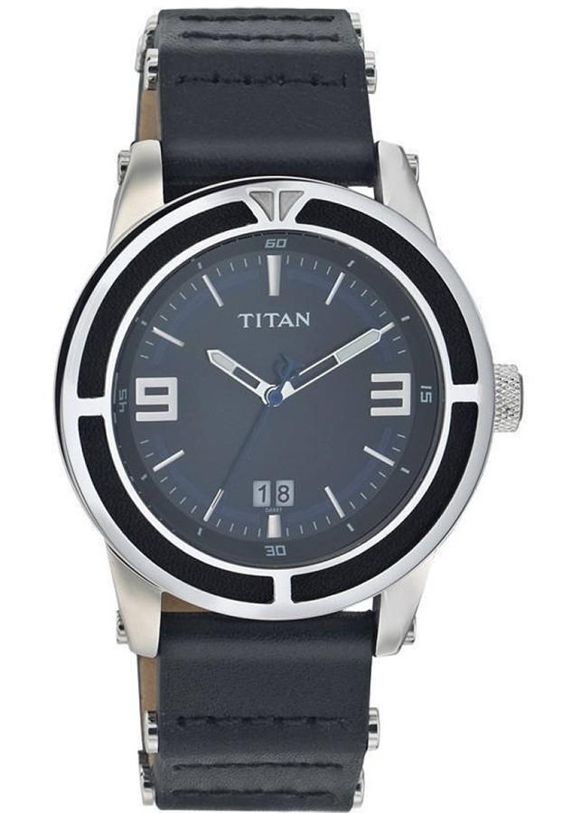 Đồng Hồ Nam Da Titan 9413SH01 - Đen