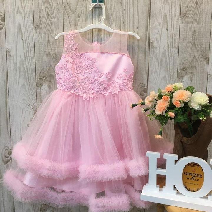 Đầm dự tiệc màu hồng mã hq621