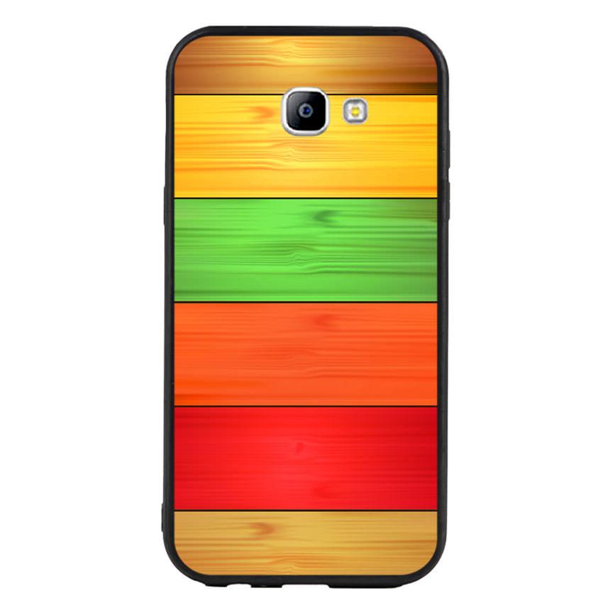 Ốp lưng nhựa cứng viền dẻo TPU cho điện thoại Samsung Galaxy A7 2017 - Sắc Màu
