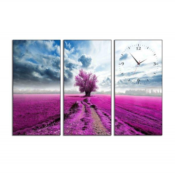 Tranh đồng hồ in Canvas Cánh đồng oải hương - 3 mảnh - 7069846 , 6332501995276 , 62_10351351 , 897500 , Tranh-dong-ho-in-Canvas-Canh-dong-oai-huong-3-manh-62_10351351 , tiki.vn , Tranh đồng hồ in Canvas Cánh đồng oải hương - 3 mảnh
