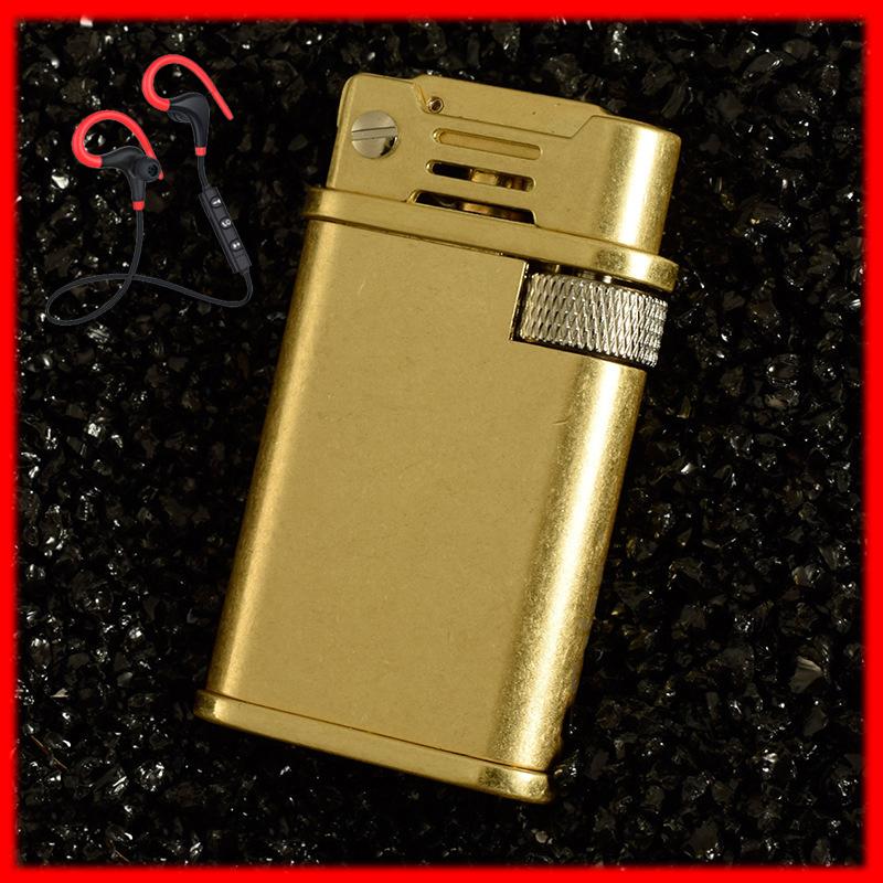 Combo Hộp Quẹt Bật Lửa Xăng Đá Cao Cấp CF-218 Sang Trọng + Tặng Tai Nghe Móc tai Bluetooth Cao Cấp