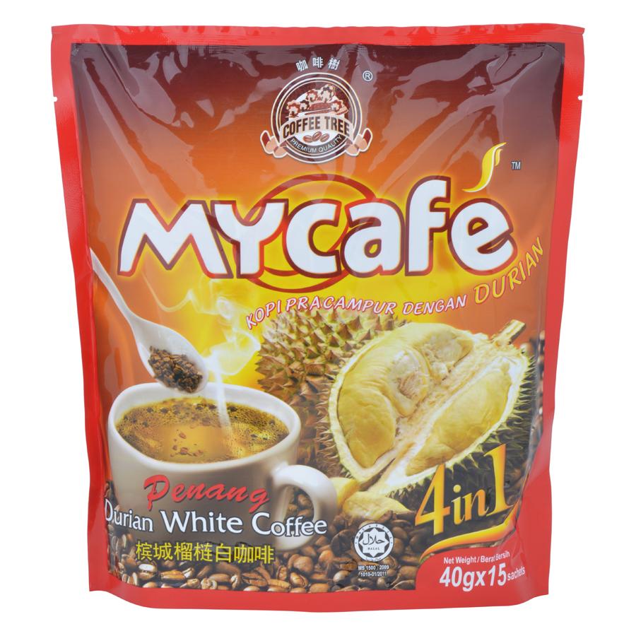 Café Trắng Vị Sầu Riêng Malaysia Coffee Tree (Túi 15 gói x 40g)