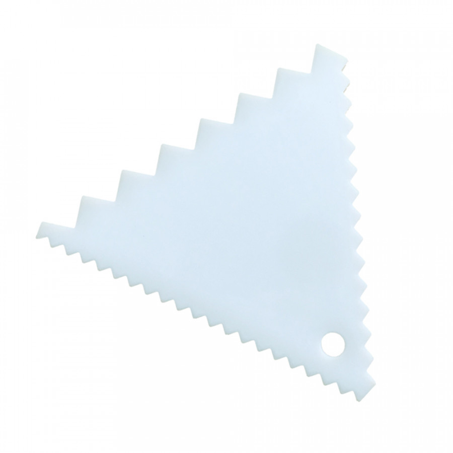 Plastic Cake Edges Scraper Cream Icing Smoother DIY Cakes Decorating Spatula Tool Set Rectangle Triangle - 2