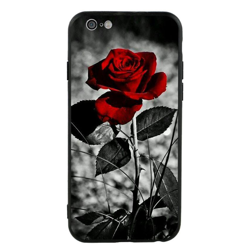 Ốp lưng viền TPU cho điện thoại Iphone 6/6s -Rose 08
