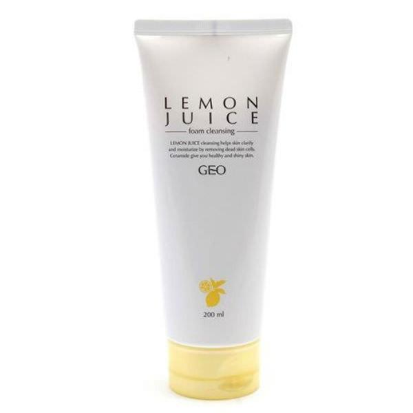 Bọt Rửa Mặt Chanh Lemon Juice Foam Cleansing Geo_Py22 (200ml)