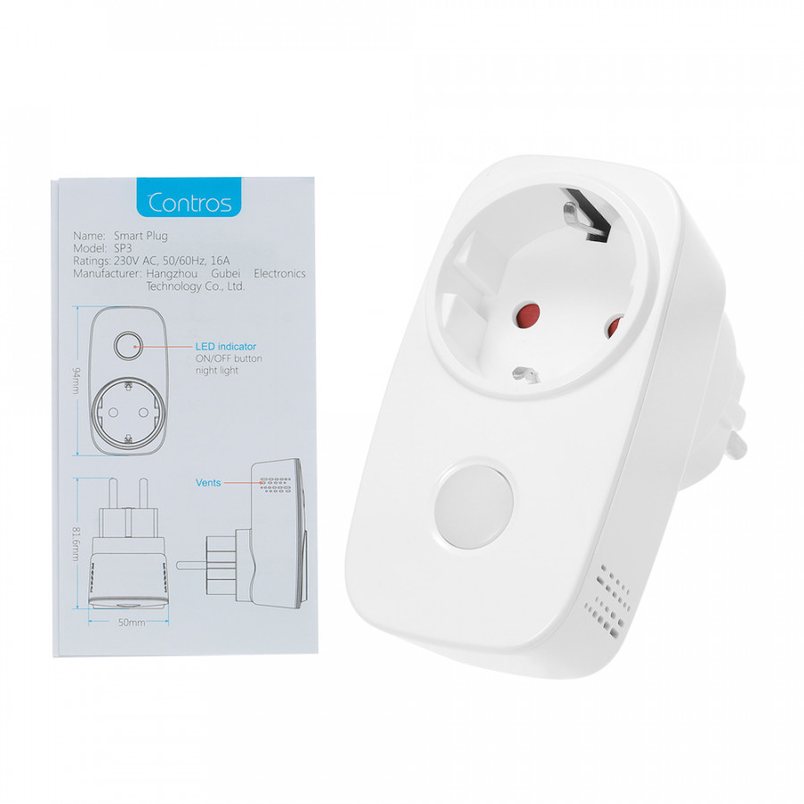 Broadlink SP3S-EU Smart WiFi Socket Power Plug Outlet Energy Monitoring Function Smart Phone APP Wireless Controls from - 2370451 , 6131398498033 , 62_15521056 , 883000 , Broadlink-SP3S-EU-Smart-WiFi-Socket-Power-Plug-Outlet-Energy-Monitoring-Function-Smart-Phone-APP-Wireless-Controls-from-62_15521056 , tiki.vn , Broadlink SP3S-EU Smart WiFi Socket Power Plug Outlet Ene