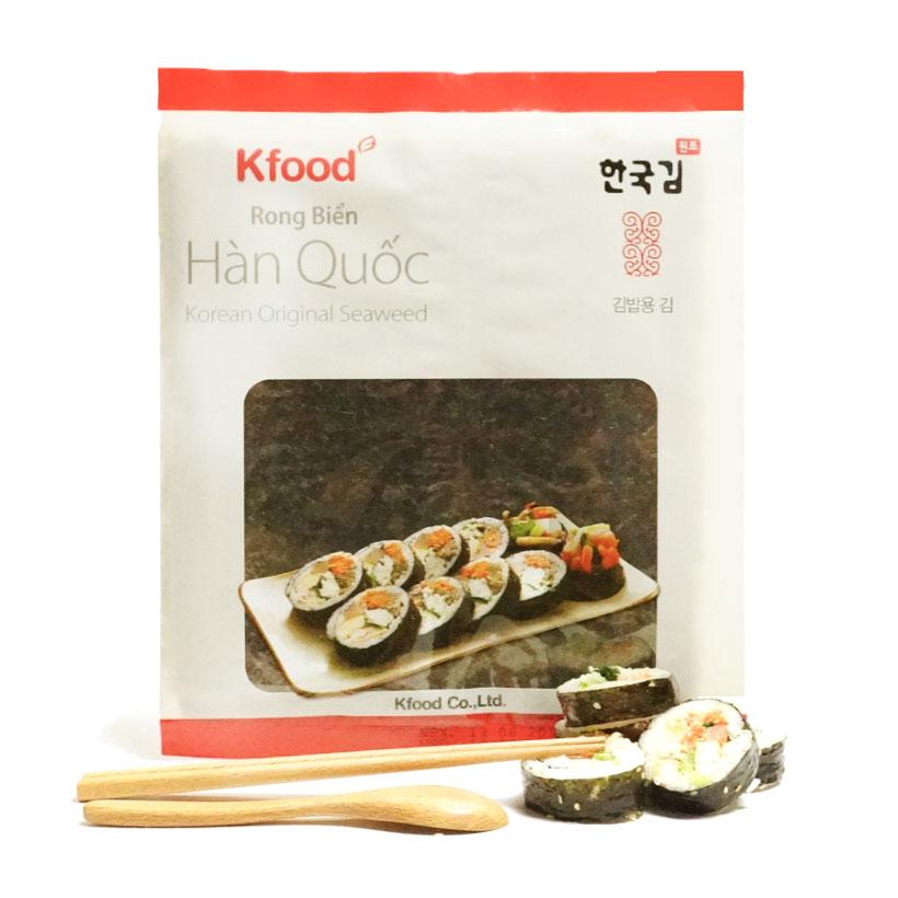 Rong biển Kfood dạng miếng (dùng cuộn cơm) (20g, 10 miếng)