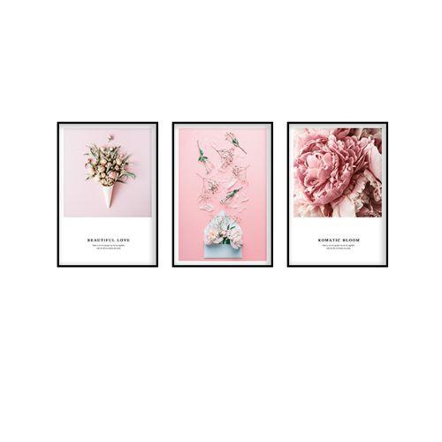Bộ 3 Tranh Romatic Bloom