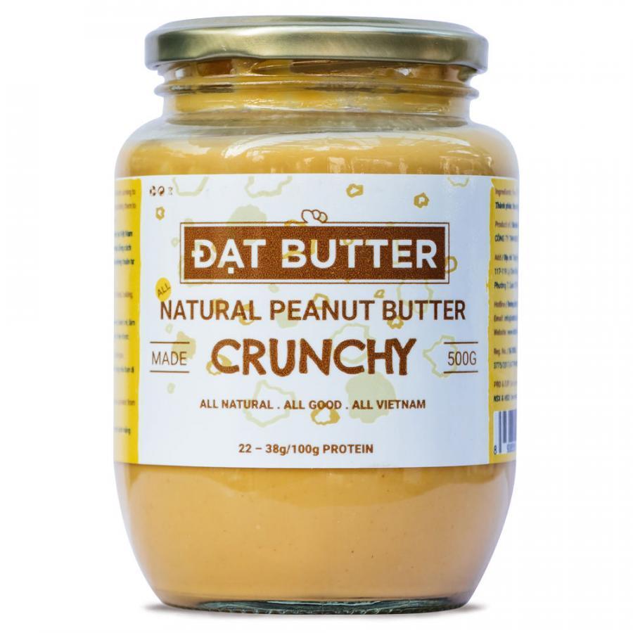 Bơ Đậu Phộng Tự Nhiên Có Hạt Đạt Butter (500g)
