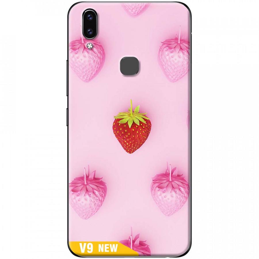 Ốp lưng dành cho Vivo V9 mẫu Dâu ngọt ngào