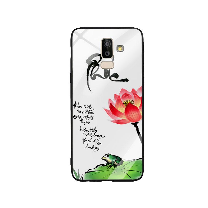 Ốp Lưng Kính Cường Lực cho điện thoại Samsung Galaxy J8 - Phúc