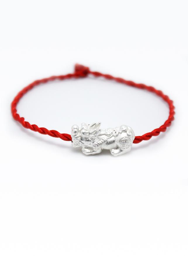 Vòng tay phong thủy mix tỳ hưu CD5 - U vòng chỉ đỏ may mắn tỳ hưu vòng phong thủy cho nam và nữ