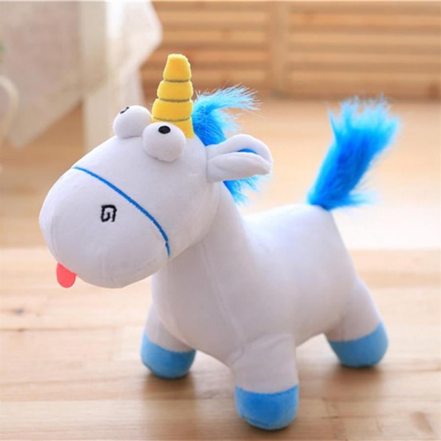 Unicorn Animal Hair 35 X30 Centimeter Blue Plush Y Doll