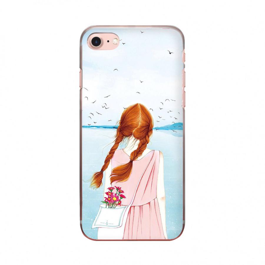 Ốp lưng cho iPhone 8  SEA GIRL in theo chất liệu - Hàng chính hãng