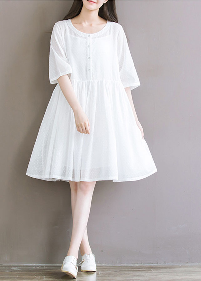 Đầm Trắng Baby Doll Nhật Bản 435