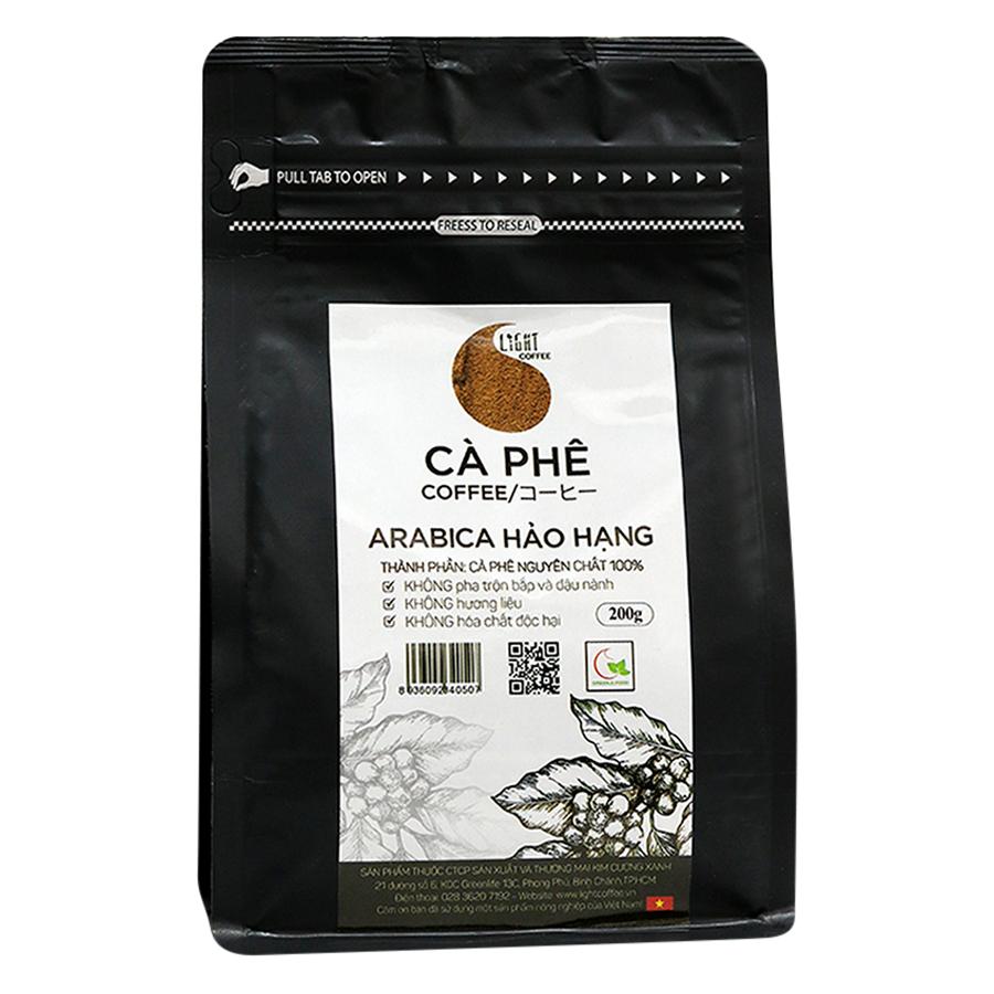 Cà Phê Bột Nguyên Chất 100% Arabica Hảo Hạng Light Coffee AHHB-200 (200g)