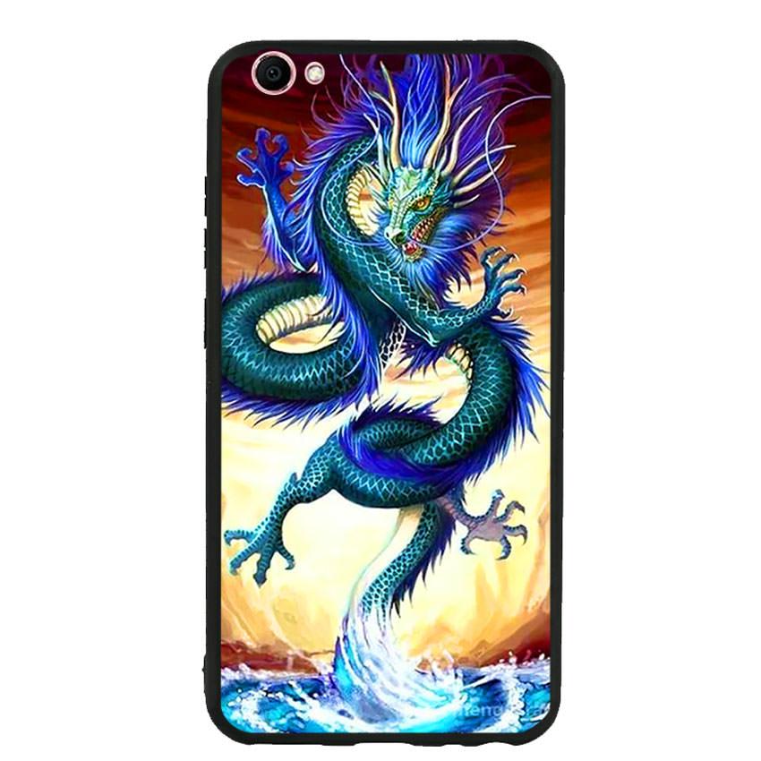 Ốp lưng nhựa cứng viền dẻo TPU cho điện thoại Vivo V5 -Dragon 10