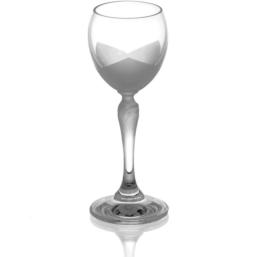 Bộ 6 ly rượu mạnh phun cát cánh hoa sen 060 ml