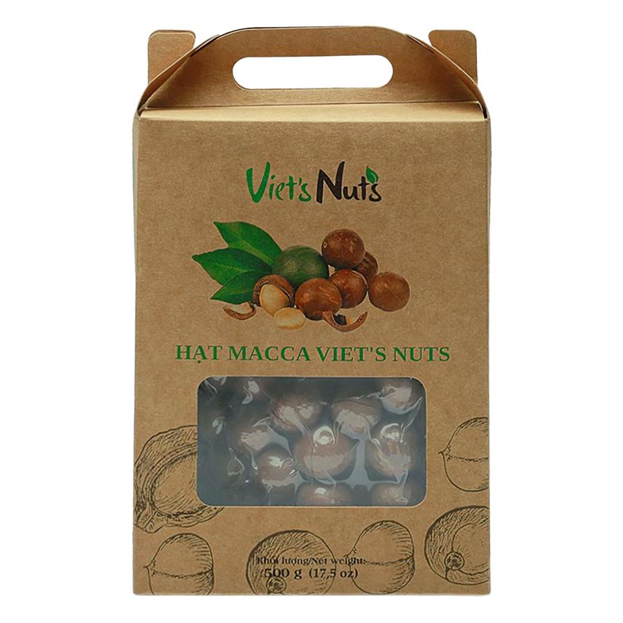 Hạt Macca Nứt Vỏ Viets Nuts Hộp 500g