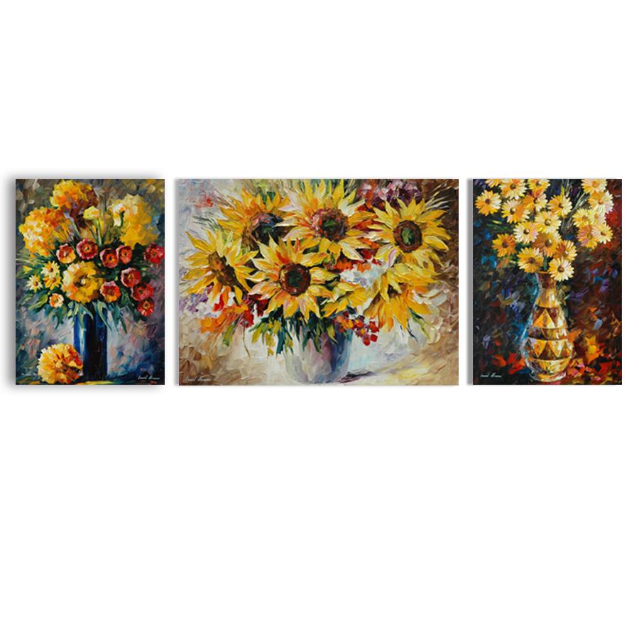 Bộ 3 tranh canvas trang trí Tặng kèm đinh treo tranh chuyên dụng PG2