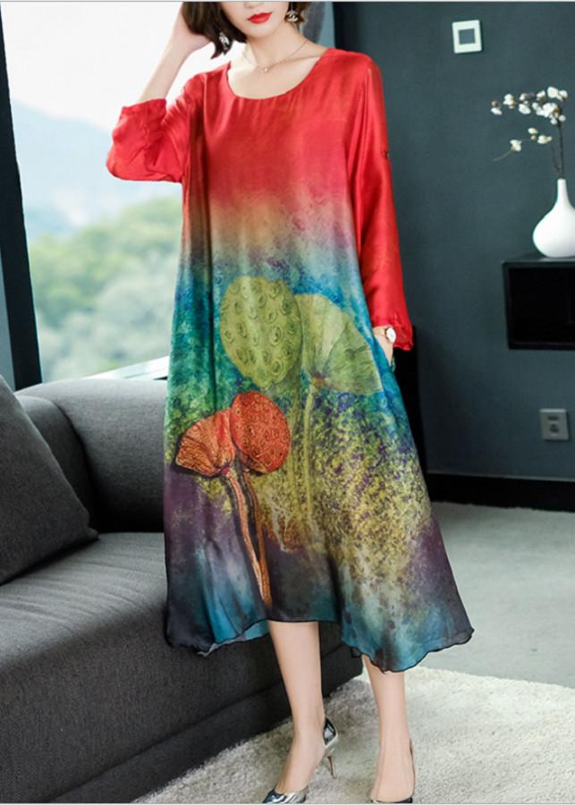 Đầm Suông In Họa Tiết - HR1579