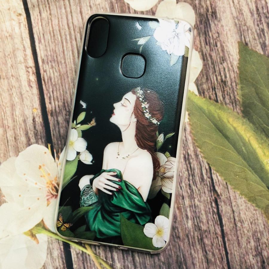 Ốp lưng cho điện thoại Joy 1 plus (Joy1+) in hình kute - Cô gái váy xanh