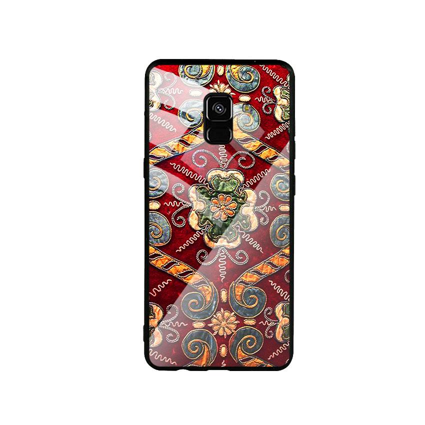 Ốp Lưng Kính Cường Lực cho điện thoại Samsung Galaxy A8 Plus - DHCL Mẫu 4
