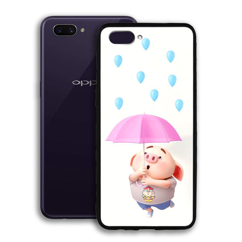 Ốp lưng viền TPU cho điện thoại Oppo A3s - 02069 0523 PIG26 - Hàng Chính Hãng