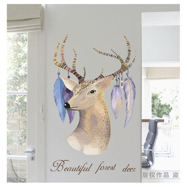 Decal dán tường Deer AM9153