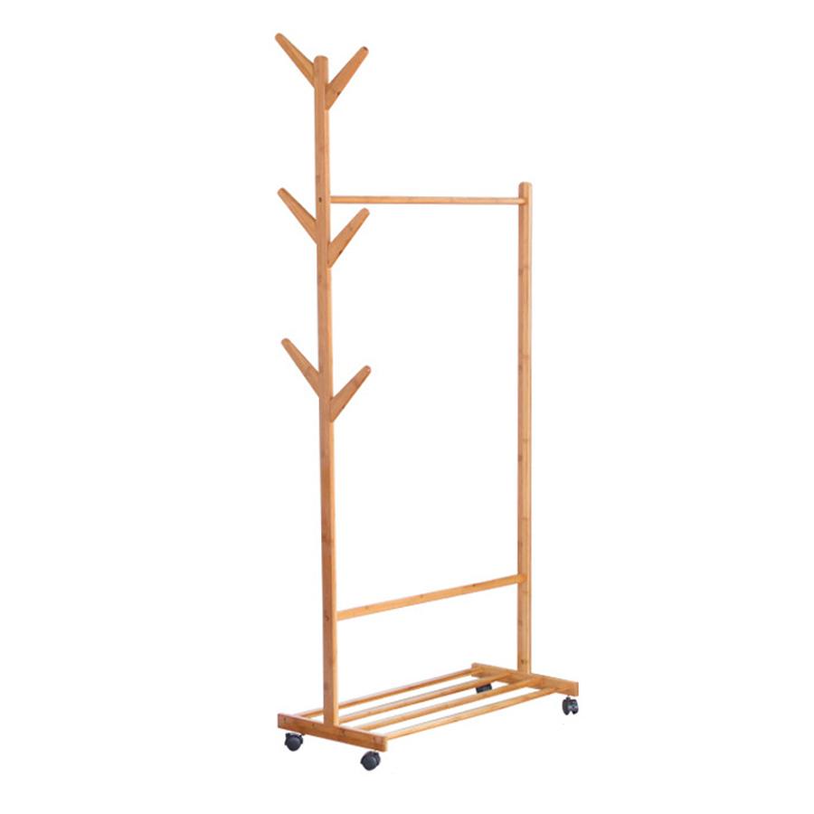 Kệ treo quần áo bằng gỗ có bánh xe GS00185 - 1552109 , 3816207886326 , 62_12276152 , 599000 , Ke-treo-quan-ao-bang-go-co-banh-xe-GS00185-62_12276152 , tiki.vn , Kệ treo quần áo bằng gỗ có bánh xe GS00185