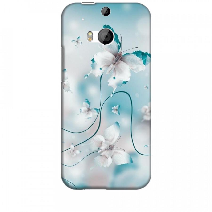 Ốp lưng dành cho điện thoại HTC M8 Cánh Bướm Xanh Mẫu 1