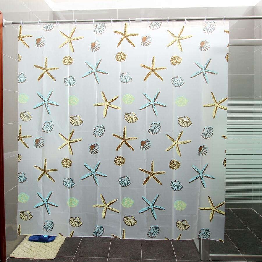 [Jingdong supermarket] Ou Runzhe shower curtain PEVA bathroom shower room 180 * 180 cm starfish models