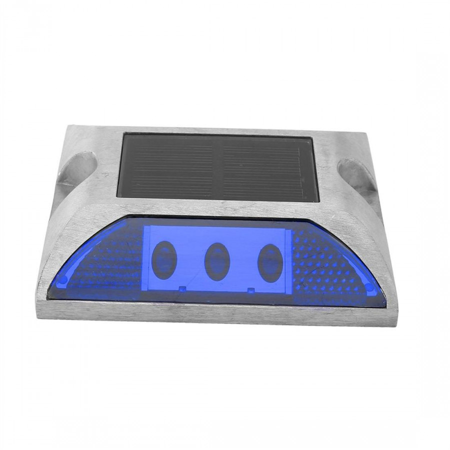 Solar Cast Aluminum Reflective Surface Spike Lamp Blue