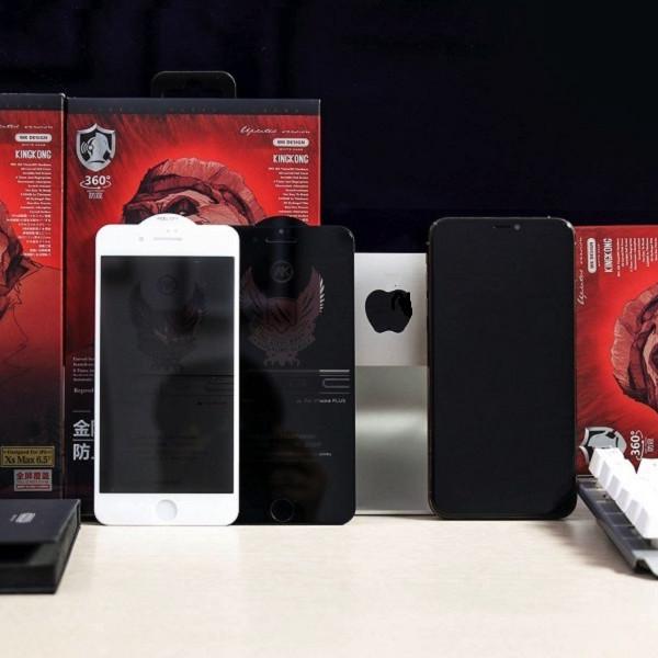 Kính cường lực iPhone 7Plus/8Plus chống nhìn trộm Kingkong 4D ; Miếng dán chống nhìn trộm ĐEN