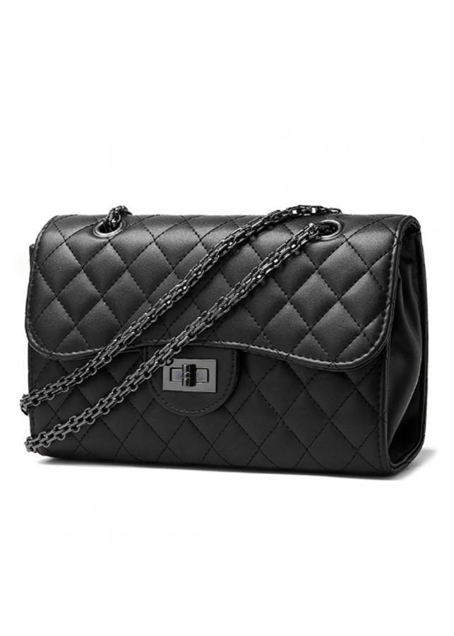 Túi đeo chéo nữ cao cấp CO màu đen