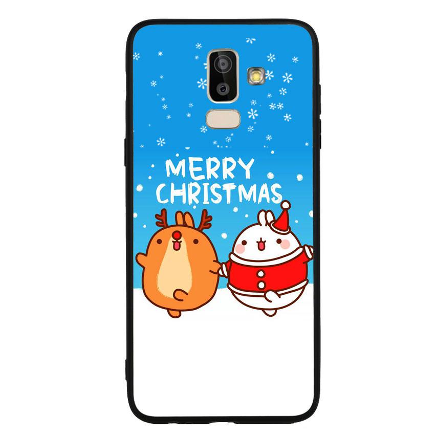 Ốp lưng viền TPU cho điện thoại Samsung Galaxy J8 - Christmas 02