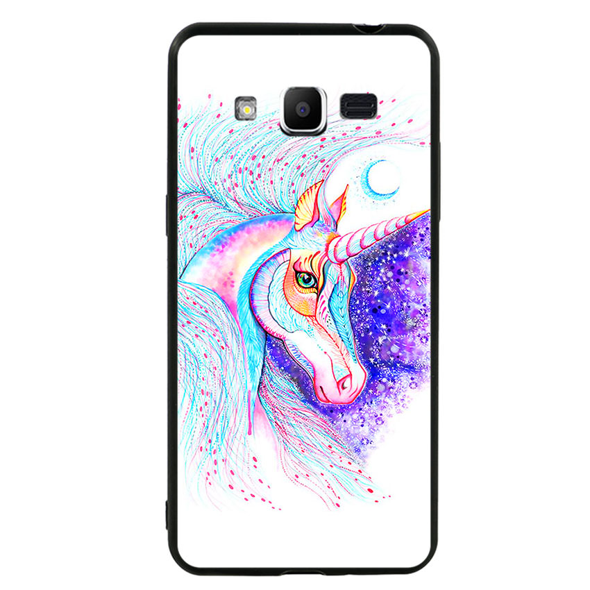 Ốp lưng nhựa cứng viền dẻo TPU cho điện thoại Samsung Galaxy J2 Prime - Horse 01