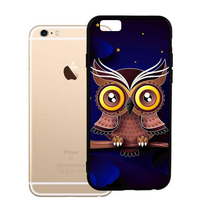 Ốp lưng viền TPU cao cấp dành cho iPhone 6 Plus - Cú Đêm