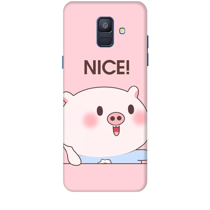Ốp lưng dành cho điện thoại  SAMSUNG GALAXY A6 2018 Heo Con Xinh xắn