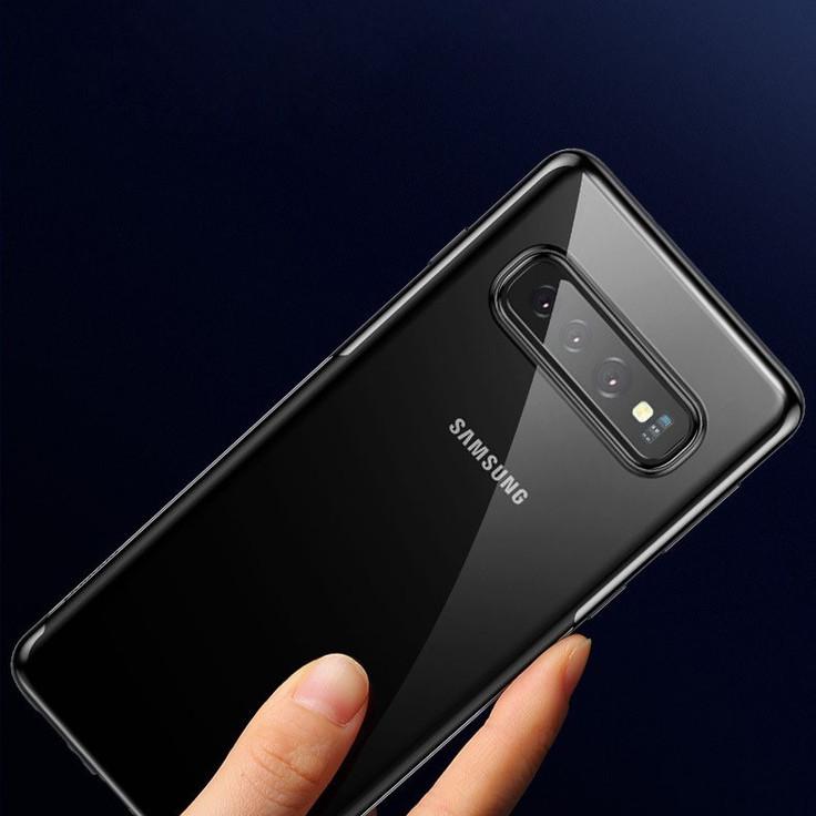 Ốp Lưng Trong Viền Đen Sulada Dành Cho Samsung S10,  S10 Plus - Hàng Cao Cấp