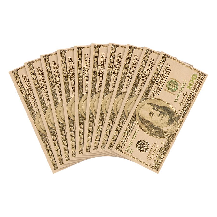 Bao Lì Xì Huỳnh Gia Phát - 100 Đô La (1 Xấp 10 cái)