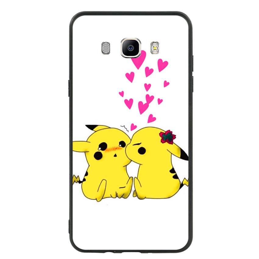 Ốp lưng viền TPU cho điện thoại Samsung Galaxy J7 2016 - Pikachu 02