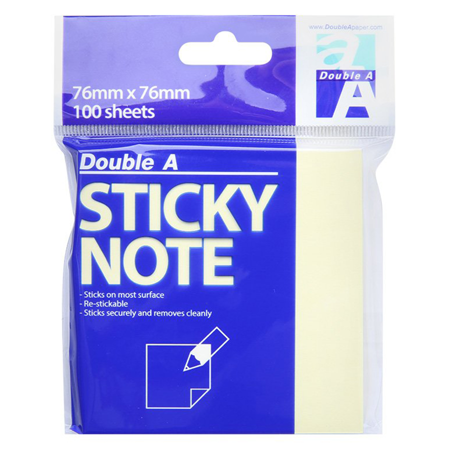 Giấy Note (3 x 3) Double A - 76X76 - 1497893 , 7426221747211 , 62_12491210 , 11000 , Giay-Note-3-x-3-Double-A-76X76-62_12491210 , tiki.vn , Giấy Note (3 x 3) Double A - 76X76